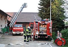 Anspruchsvolle Feuerwehrübung bei Obstbau Hauck