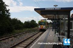 Haltestelle Edingen-West offiziell eingeweiht