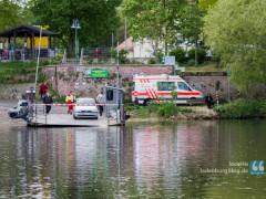 Mann aus Neckar gerettet