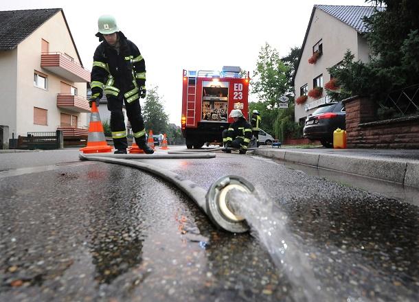 Unwettereinsatz, Feuerwehr,  (Foto Marcus Schwetasch) 001