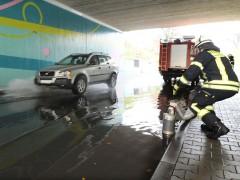 Unterführung in der Platanenstraße überschwemmt